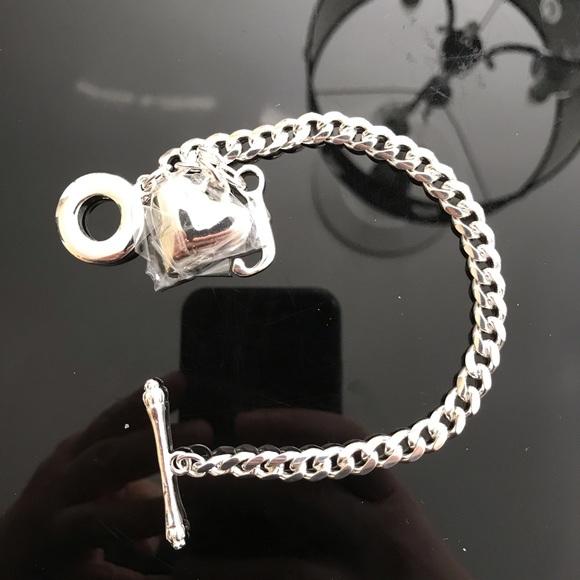 Silver toggle bracelet new